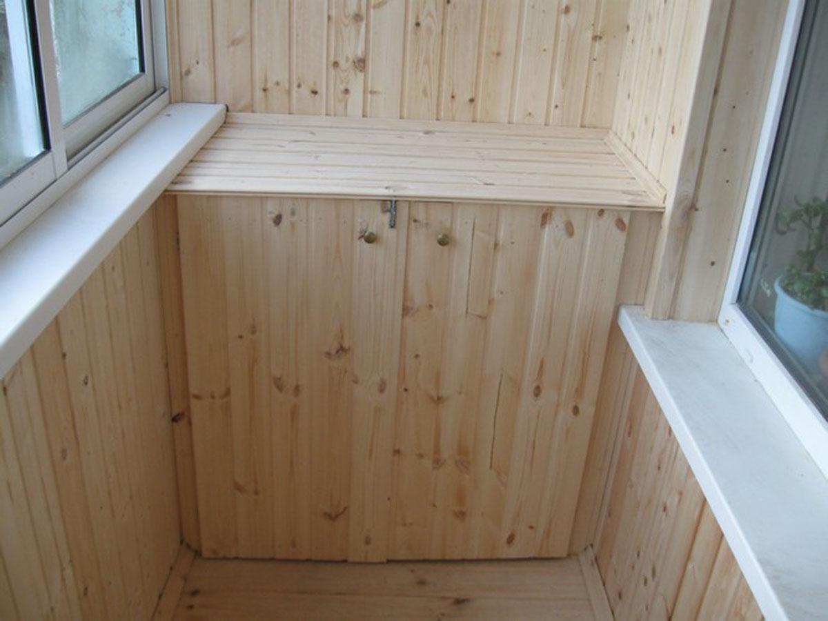 Отделка балкона вагонкой своими руками: инструкция (фото и в.